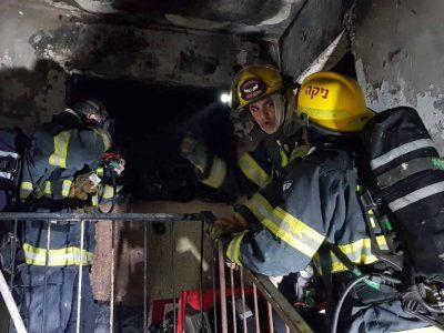 בית שאן: שריפה לפנות בוקר בבניין מגורים