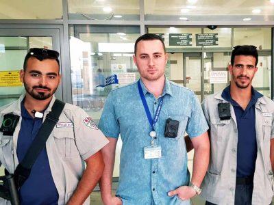 מצלמות גוף למאבטחים במרכז רפואי פוריה