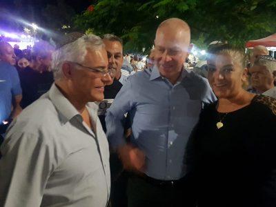 בית שאן: השר יואב גלנט 'מכולנו' תומך בז'קי לוי לראשות העיר