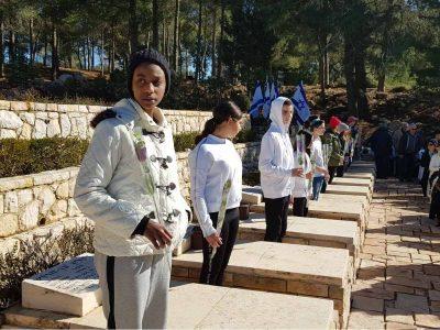 תלמידי ויצו ניר העמק השתתפו בטקס הזכרון השנתי למעפילי ספינת אגוז
