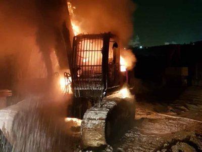 """עמק יזרעאל: שומר הותקף- כלי צמ""""ה הוצת"""