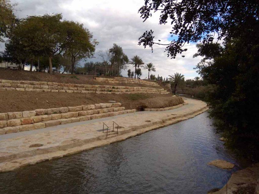 גן השלושה (הסחנה): מחילה חפורה מהתקופה הרומית התגלתה במקרה