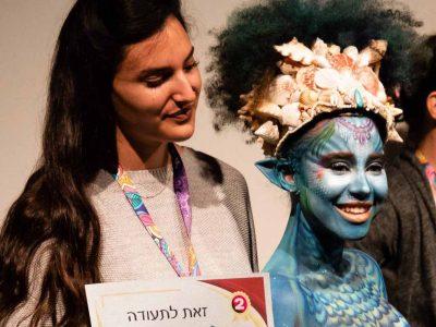 בכל צבעי הקשת: צעירה מקיבוץ דברת זכתה במקום השני בתחרות ציורי פנים