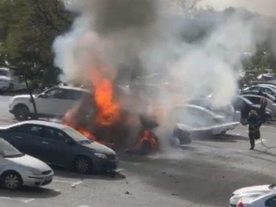 """""""שמעתי פיצוץ אדיר"""": רכב התפוצץ במרכז רפואי העמק בעפולה- הרקע פלילי ככל הנראה"""