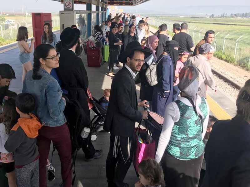"""שקט תעשייתי ברכבת בחוה""""מ פסח: מעל 800 אלף נסיעות בוצעו עד כה"""