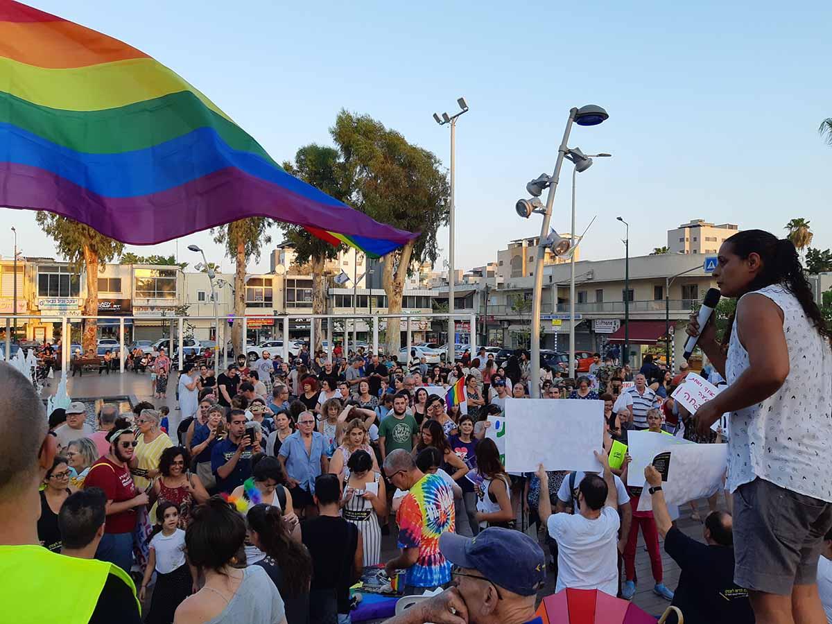 הפגנה של חברי הקהילה בקיץ האחרון. צילום ארכיון