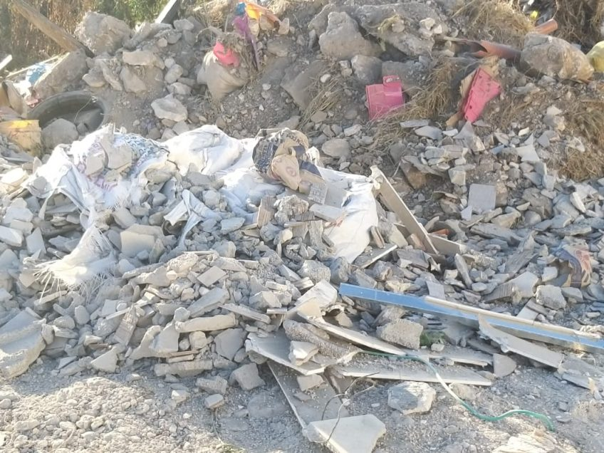 בן 40 שפך פסולת בניין בשטח פתוח ועוכב לחקירה