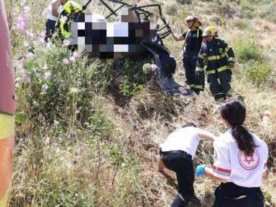 אסון בגלבוע: הרוגות בהתהפכות רכב שטח