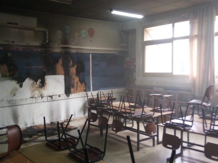"""ונדליזם בביה""""ס במגדל העמק: כיתה הוצתה כליל"""