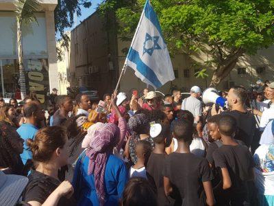 עפולה: מאות השתתפו במחאה בעקבות מותו של סלומון טקה