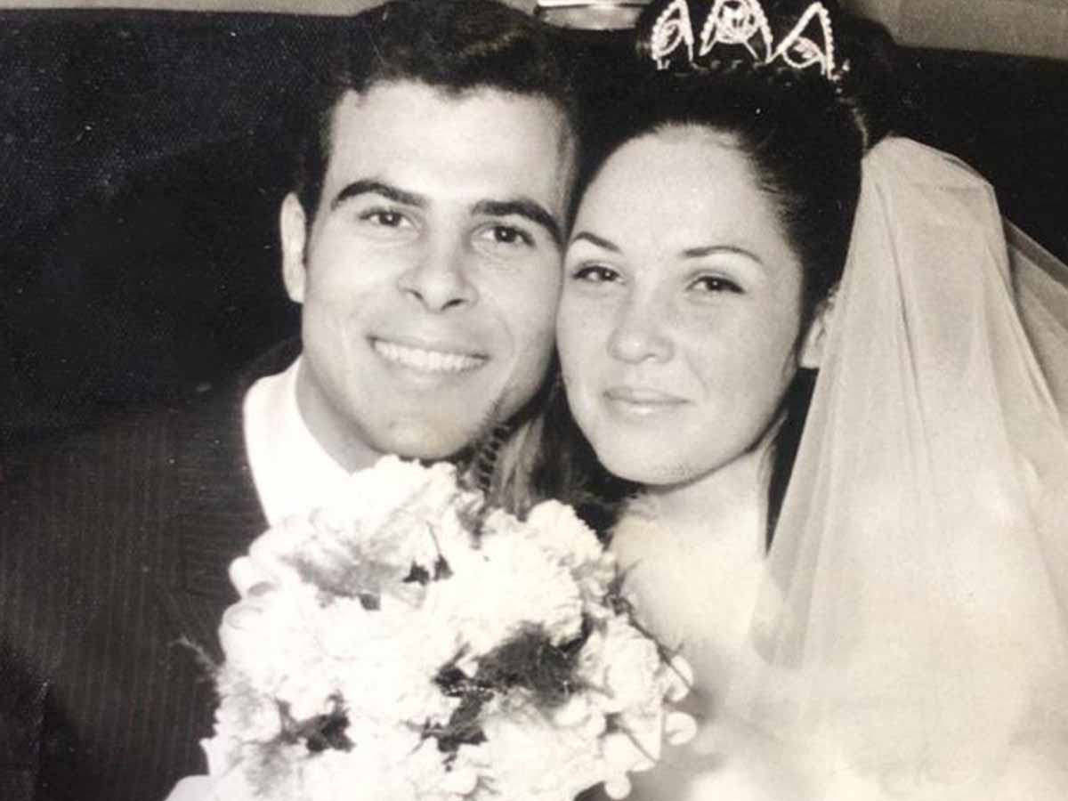 אבי ורחל פילוסוף ביום נישואיהם