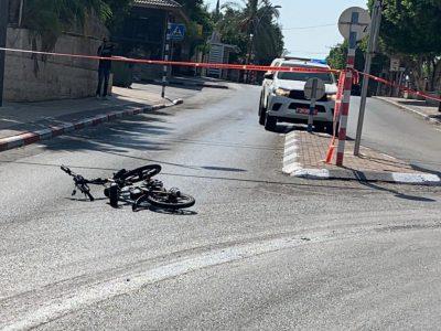 בית שאן: רוכב אופניים נפגע קשה בתאונת דרכים