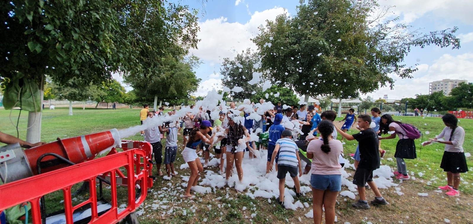 פעילות לבני נוער בפארק העירוני