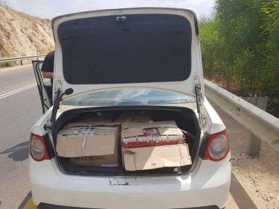 תושב בית שאן ניסה להבריח לאזור מעל ל- 60,000 סיגריות מהשטחים
