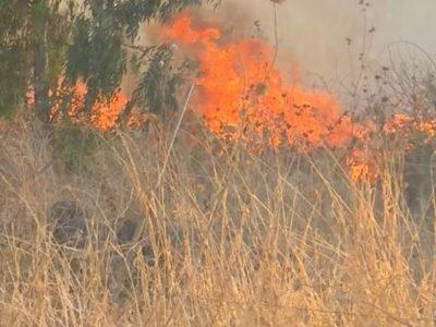 בין מרחביה לכפר יחזקאל: שריפה ותאונת דרכים