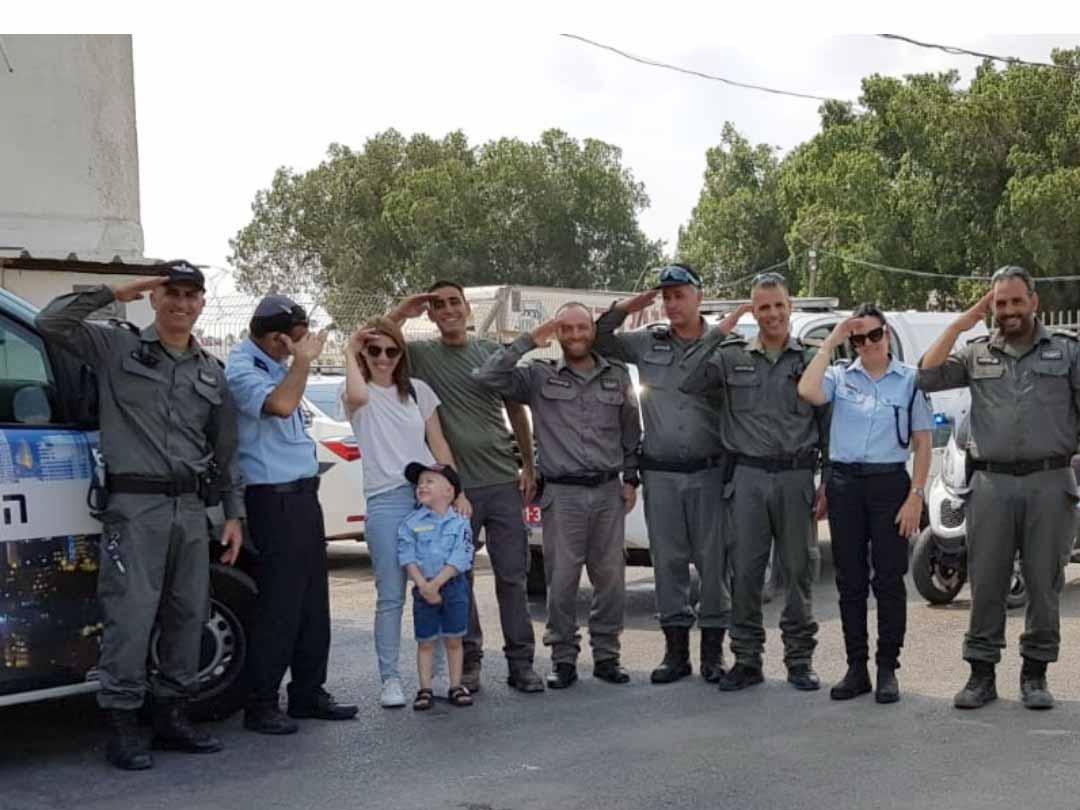 שוטרי משטרת בית שאן עם אלון הצעיר