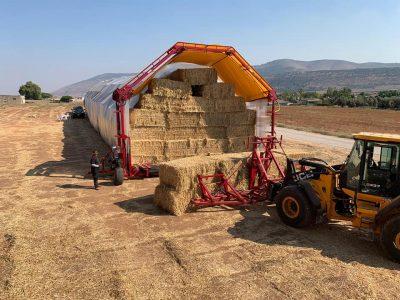 חקלאות למתקדמים: המכונה המפלצתית שנחתה במושב כפר יחזקאל
