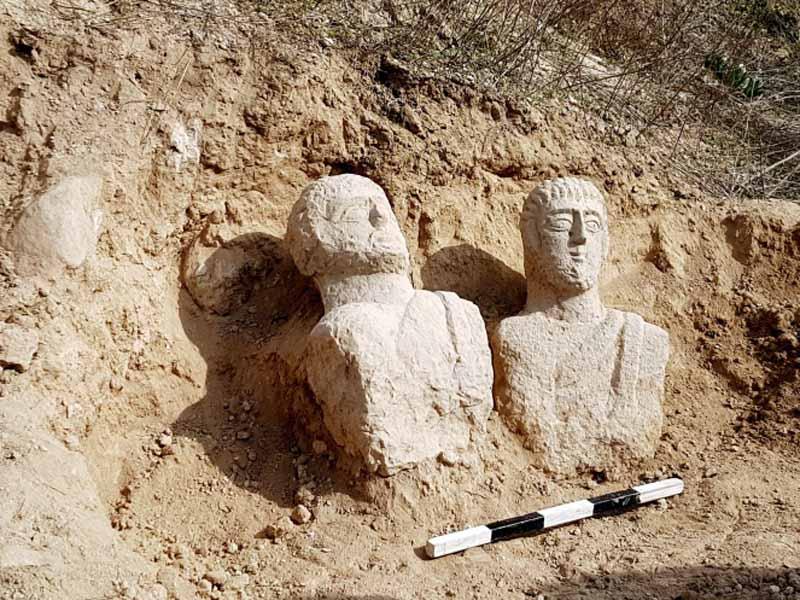 הסחנה: פסלים רומיים שנמצאו בבית שאן הוצבו במוזיאון לארכיאולוגיה