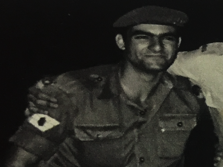 """פליקס דה פז, בעת שירותו הצבאי. צילום ארכיון צילומים: דובר צה""""ל"""