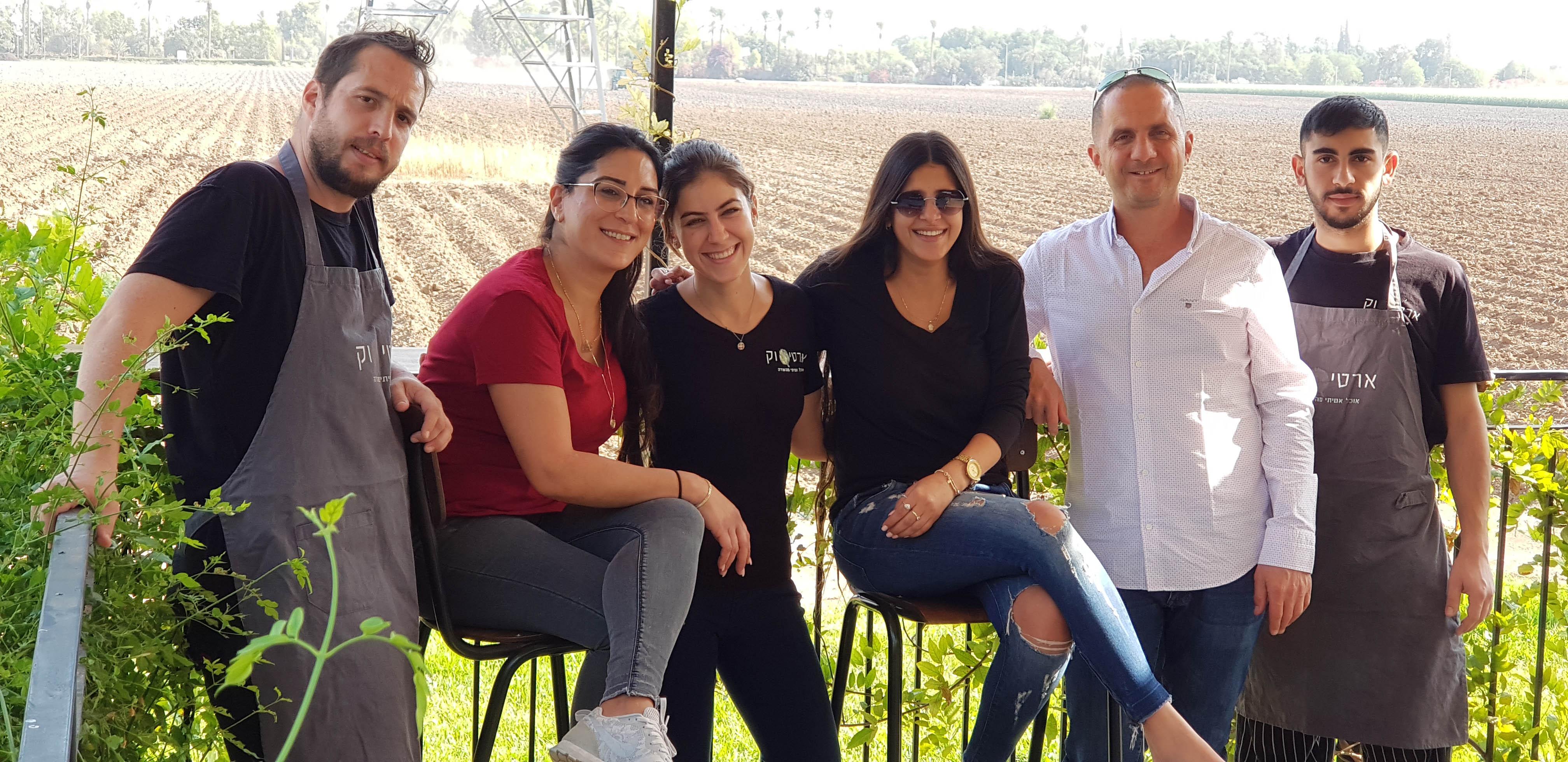 הצוות של מסעדת ארטישוק