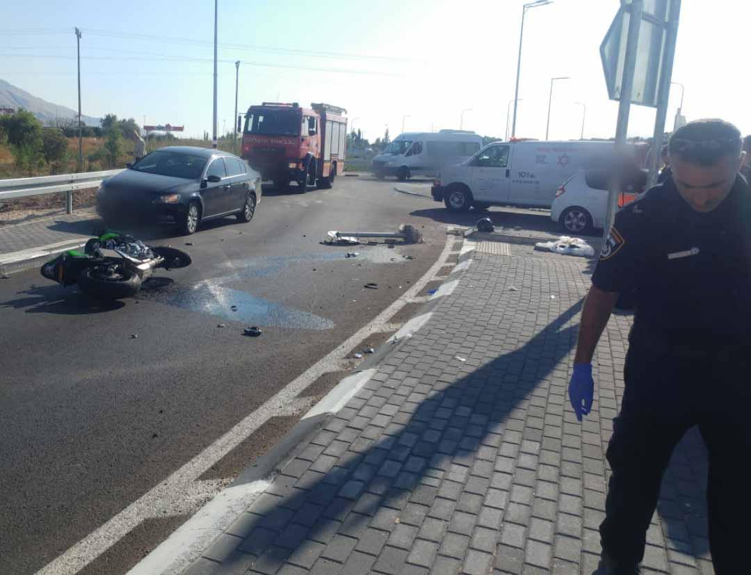 זירת התאונה הטרגית. צילום: דוברות המשטרה