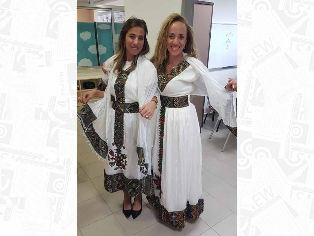מנהלת בית הספר יהלום בעפולה פרח בר כהן חגגו את חג הסיגד