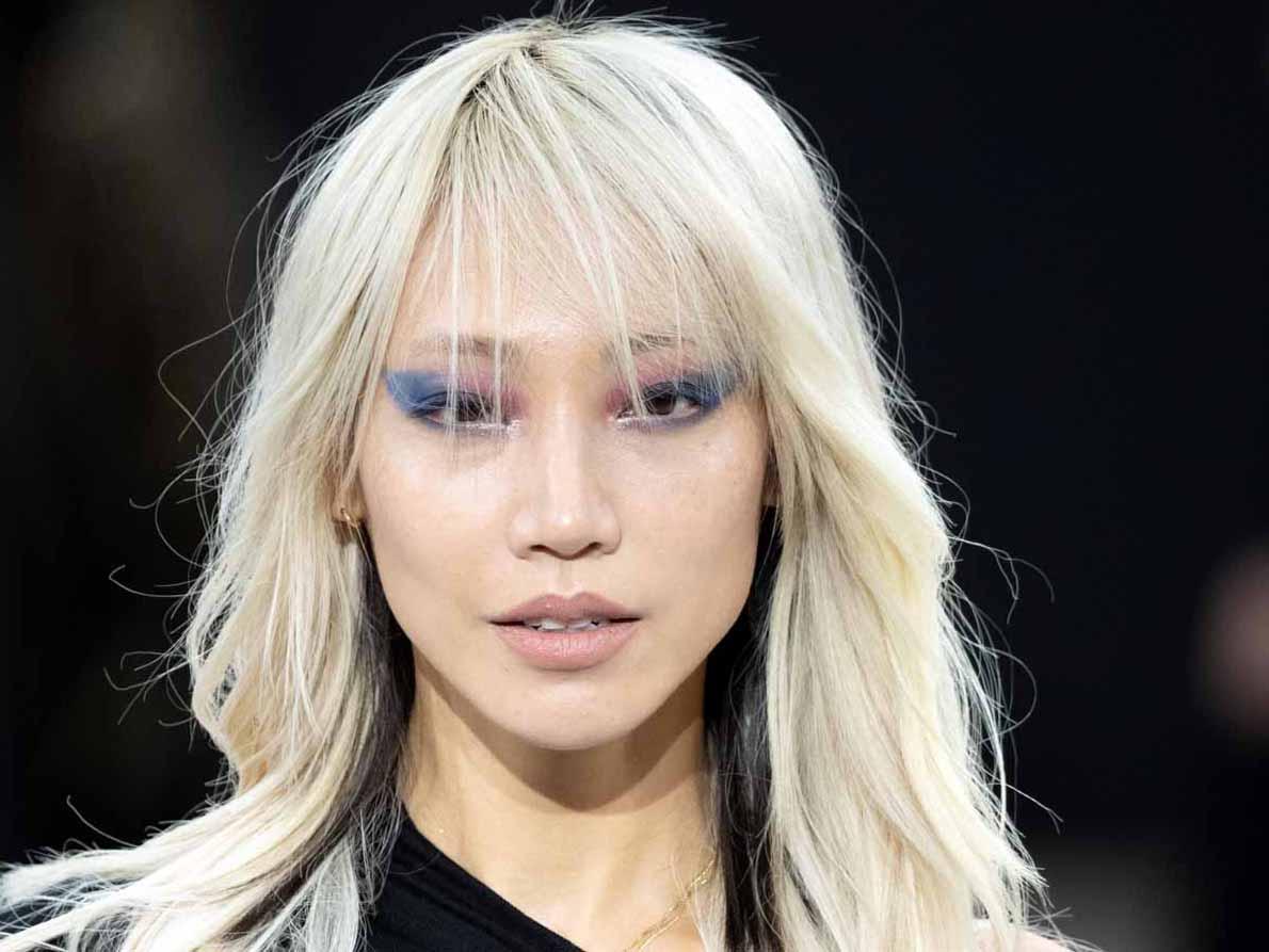 שילוב הטרנדים של סגול וכחול מתצוגה אופנה לוריאל פריז צילום יחצ חול