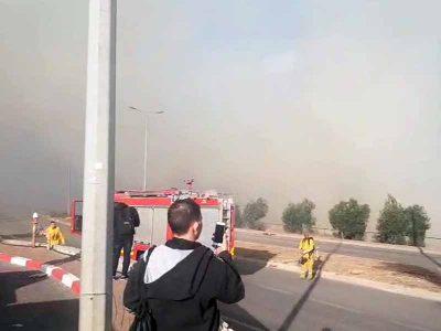 נוף הגליל: 4 עובדי משרד הפנים נפגעו משאיפת עשן בשריפה