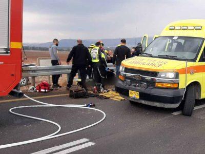 גלבוע: רוכב אופנוע בן 20 החליק ונפצע קשה