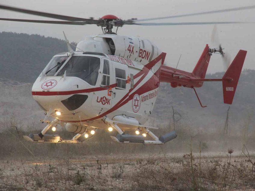 כפר תבור: בן 8 נפגע מרכב ופונה במסוק