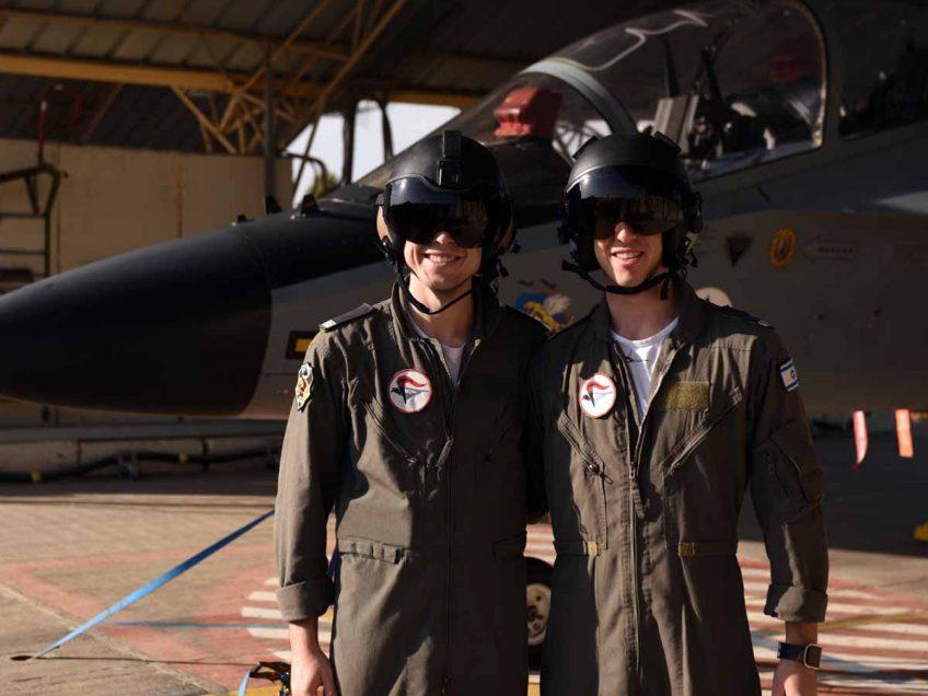 נוסקים אל על: שלושה טייסים מהאזור סיימו את קורס הטיס של חיל האוויר
