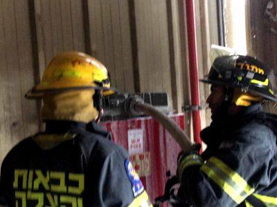 יקנעם: שריפה במפעל אלביט