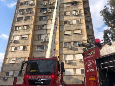 נוף הגליל: תרגיל לכיבוי אש בבניין רב קומות