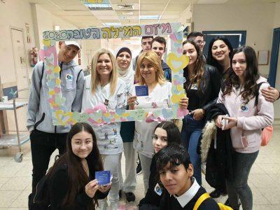 עפולה: תלמידי העיר במחווה מרגשת לנותני השרותים
