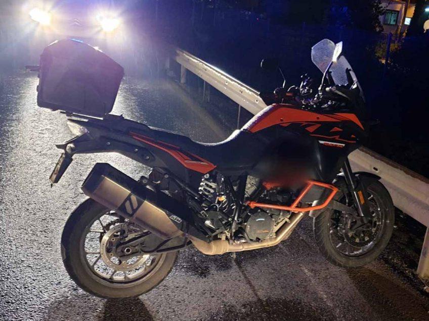 האופנוע של אלעד, עליו רכב בליל התאונה. צילום:דוברות המשטרה