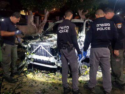 """פיצוץ ברכב בבית שאן: בן 45 פונה לביה""""ח"""