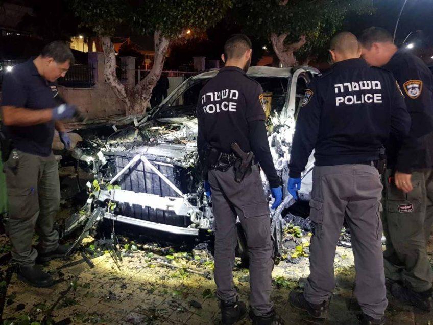 פיצוץ ברכב על רקע פלילי ביקנעם: גבר נפצע קשה