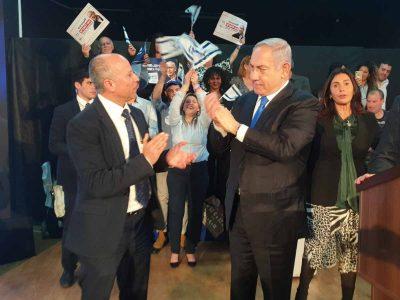 עפולה: אלקבץ הכריז על תמיכה בנתניהו והצטרפות לליכוד