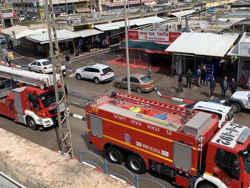 עפולה: שריפה ברחוב השוק