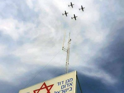 """מטס יום העצמאות 2020 בצל הקורונה: טייסי חיל האוויר במחווה למד""""א"""