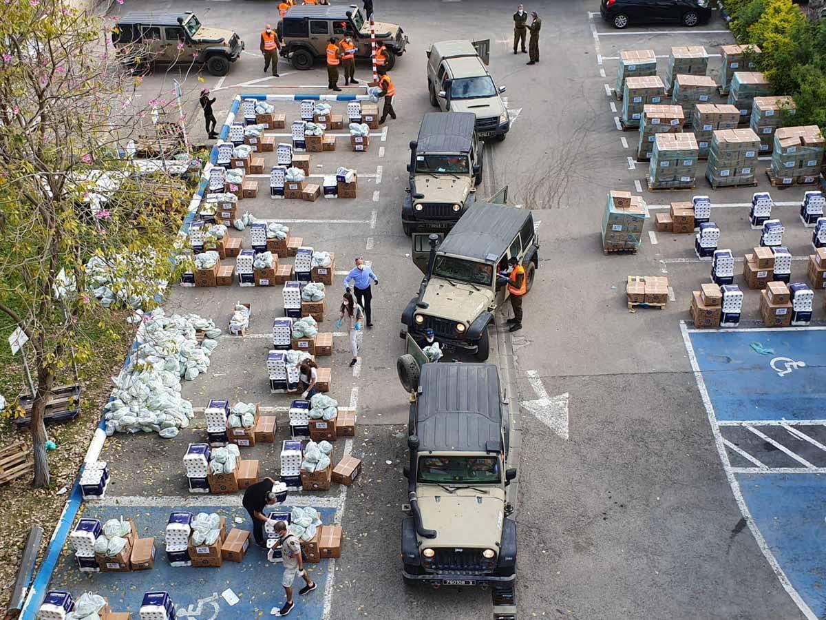 מבצעי חלוקה בשיתוף פיקוד העורף. צילום: דוברות עיריית עפולה