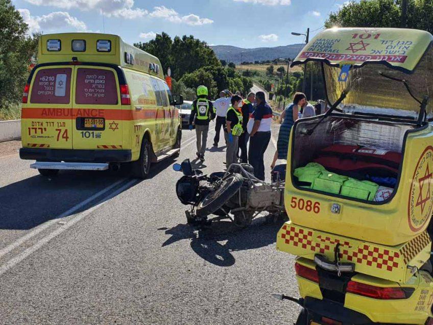 בסמוך לבית קשת: שני פצועים בתאונת אופנוע בכביש 65