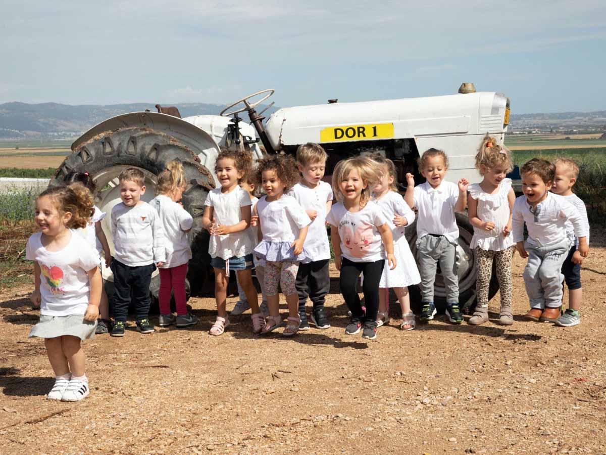 ילדי הגן לומדים על החג צילום- ענת חרמוני
