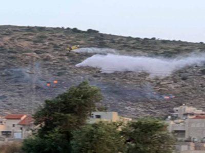 בעקבות עומס החום: מספר שריפות הלילה בעמק