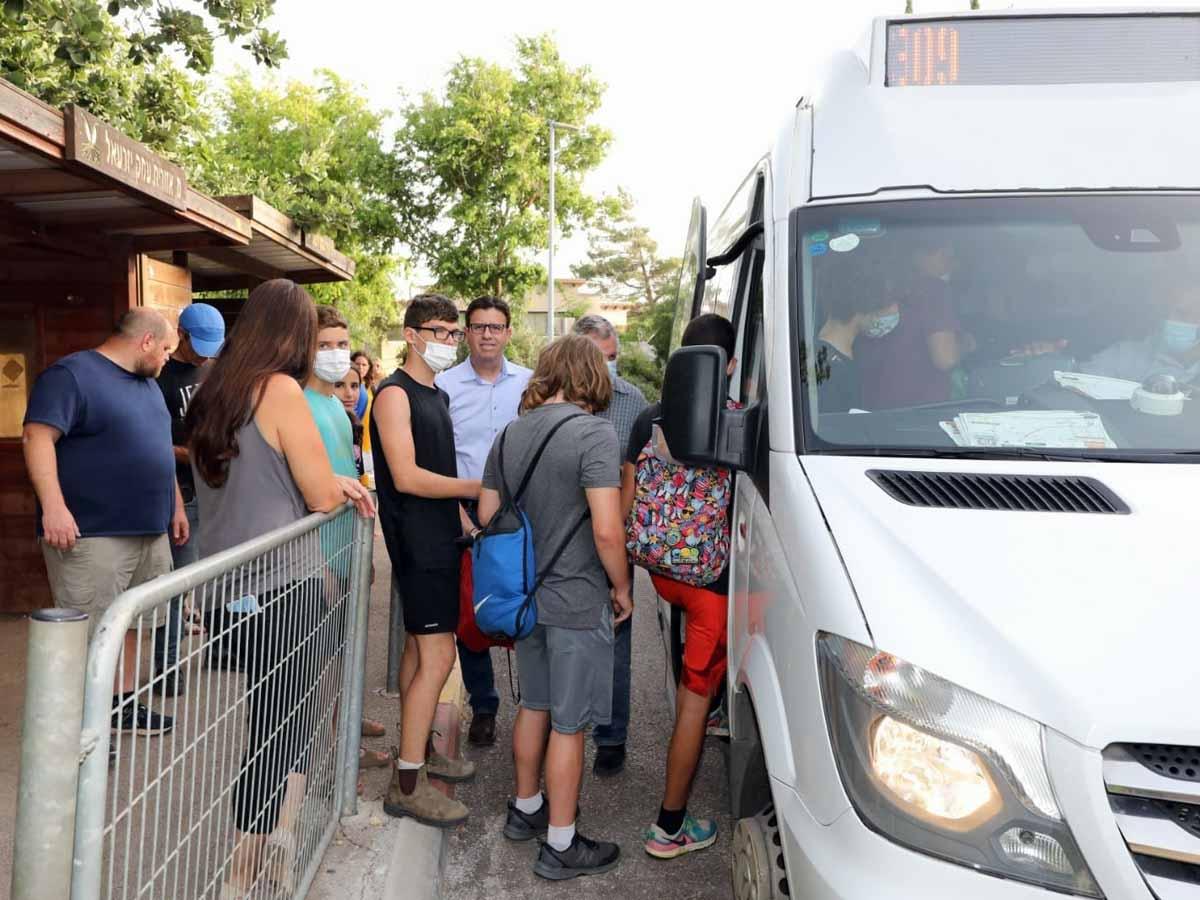 """נסיעת הבכורה של קו אוטובוס חדש באשכול הצפוני של מוא""""ז עמק יזרעאל"""