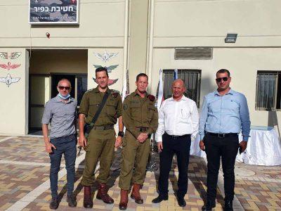 אלקבץ השתתף בחנוכת המפקדה החדשה של חטיבת כפיר
