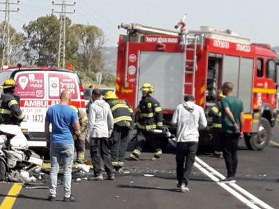 תאונה חזיתית בסמוך למרחביה