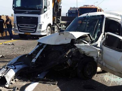סמוך לצומת נהלל: שלושה פצועים בתאונת דרכים