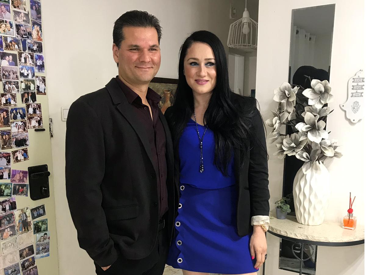 עורכת הדין דיאנה פז יחד עם בעלה איש הרדיו חנוך מועלם יוסף