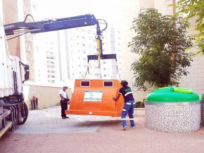 עפולה: 250 פחים כתומים למחזור הוצבו ברחבי העיר
